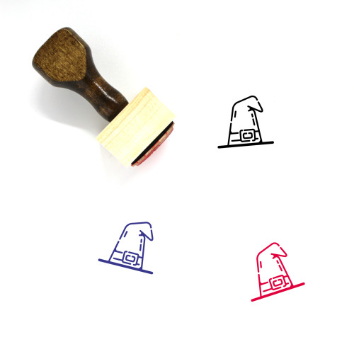 Witch Hat Wooden Rubber Stamp No. 37
