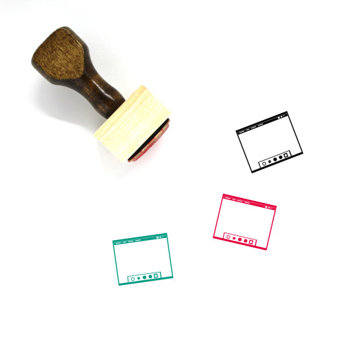 Operating System Layout Wooden Rubber Stamp No. 10
