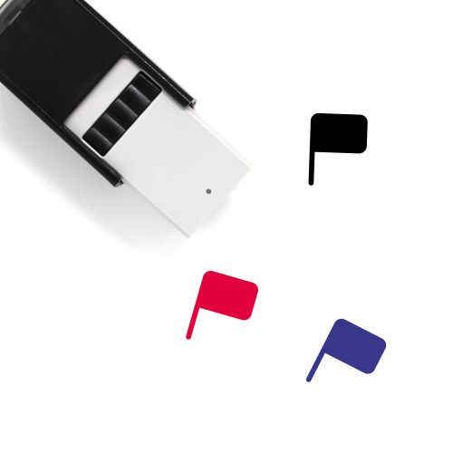 Flag Self-Inking Rubber Stamp No. 782