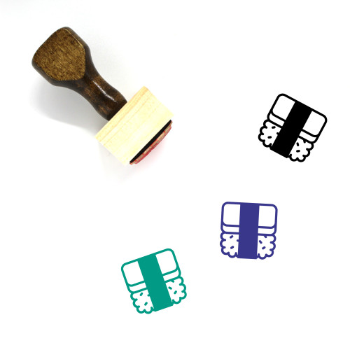 Spam Musubi Wooden Rubber Stamp No. 1