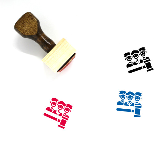 Jury Wooden Rubber Stamp No. 6