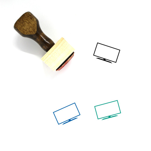 Television Wooden Rubber Stamp No. 113