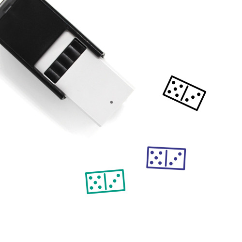 Domino Self-Inking Rubber Stamp No. 128