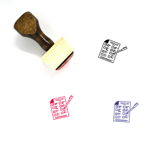 Form Wooden Rubber Stamp No. 31