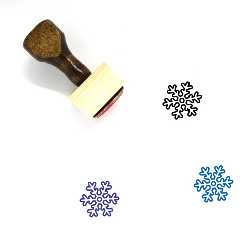 Snow Flake Wooden Rubber Stamp No. 21