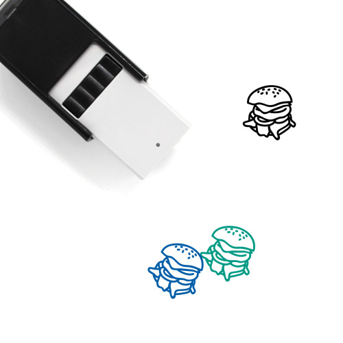 Burger Self-Inking Rubber Stamp No. 25