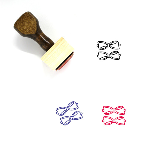 Barrettes Wooden Rubber Stamp No. 1