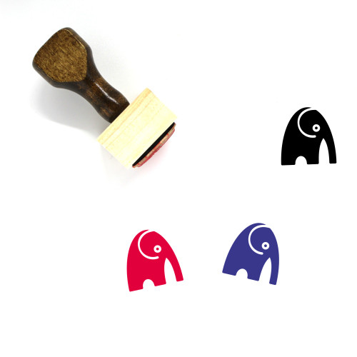 Elephant Wooden Rubber Stamp No. 48