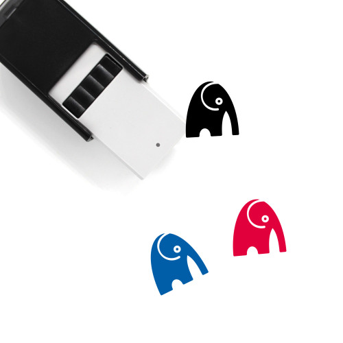 Elephant Self-Inking Rubber Stamp No. 48