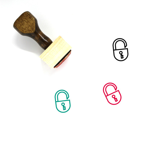 Unlock Wooden Rubber Stamp No. 139