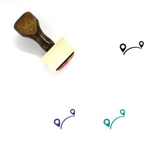 Trip Wooden Rubber Stamp No. 9