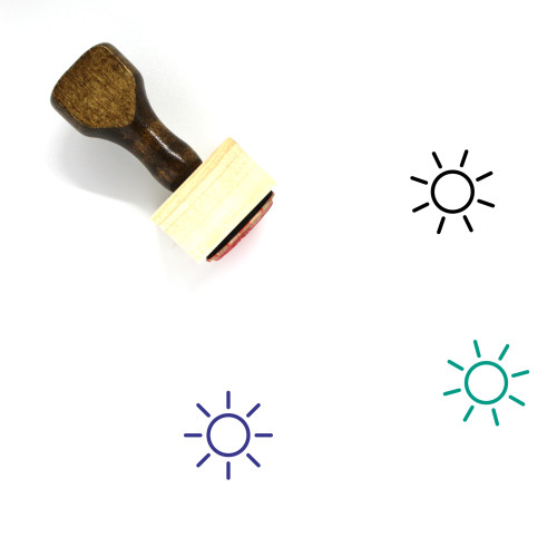 Sun Wooden Rubber Stamp No. 343