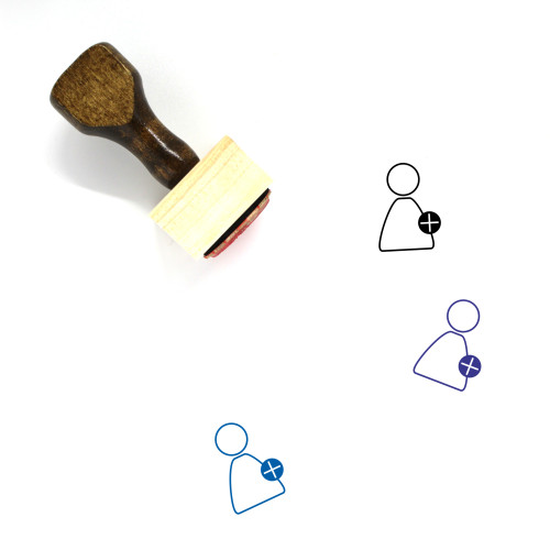 Add User Wooden Rubber Stamp No. 48