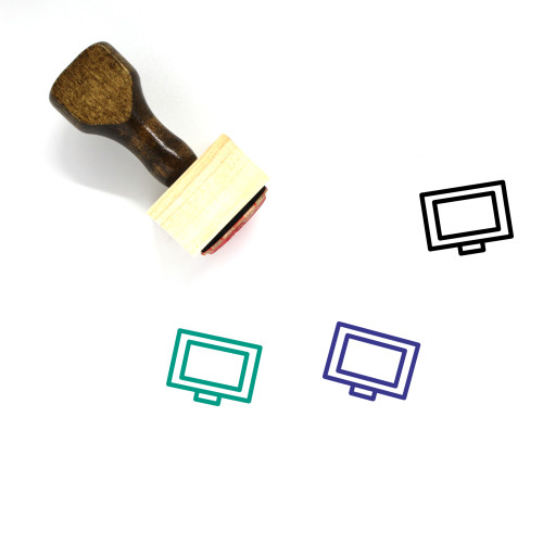 Television Wooden Rubber Stamp No. 114