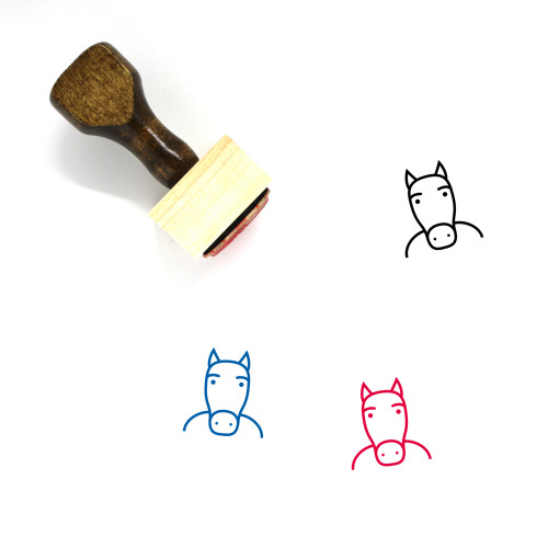 Horse Wooden Rubber Stamp No. 107