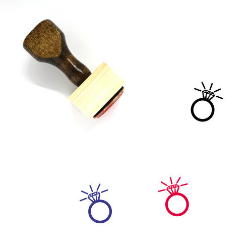 Ring Wooden Rubber Stamp No. 64