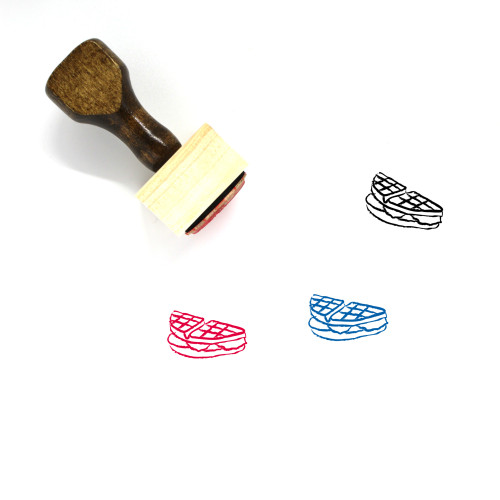 Waffle Wooden Rubber Stamp No. 30