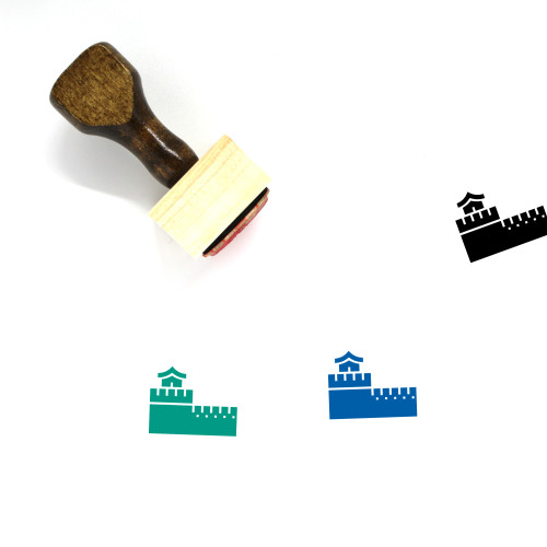 Great Wall Of China Wooden Rubber Stamp No. 14