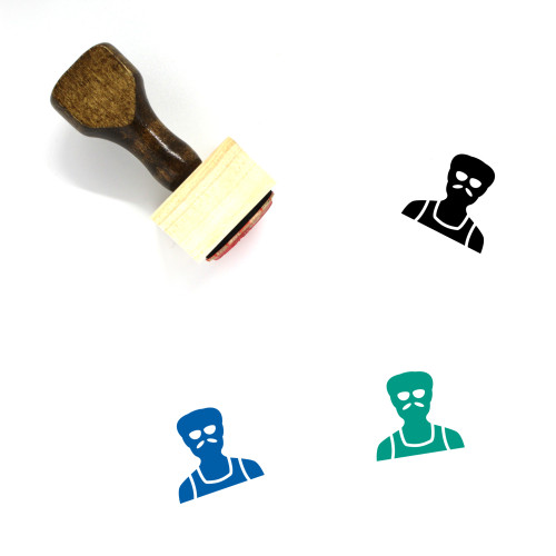 Old Man Wooden Rubber Stamp No. 44