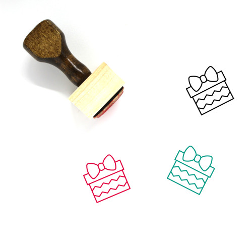 Christmas Present Wooden Rubber Stamp No. 23