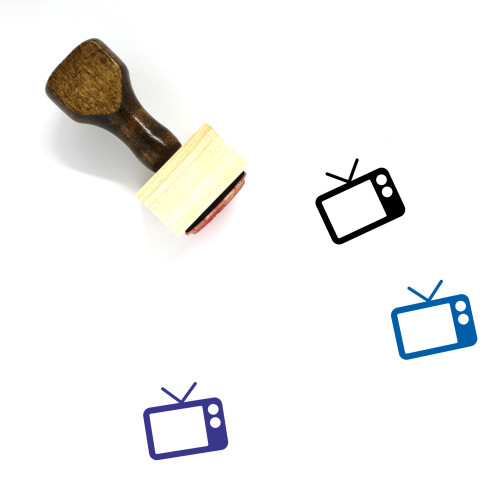 Television Wooden Rubber Stamp No. 115