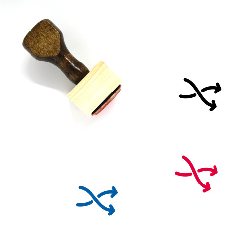 Arrow Shuffle Wooden Rubber Stamp No. 1