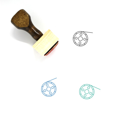 Video Reel Wooden Rubber Stamp No. 20