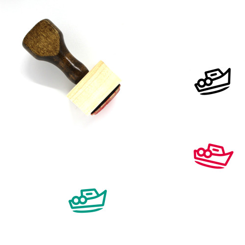 Boat Wooden Rubber Stamp No. 80