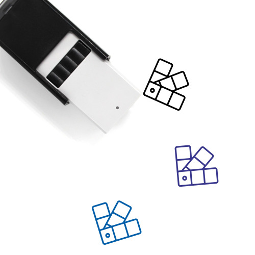 Color Palette Self-Inking Rubber Stamp No. 6
