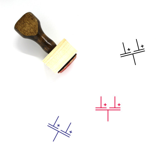 Multiple Capacitor Wooden Rubber Stamp No. 2