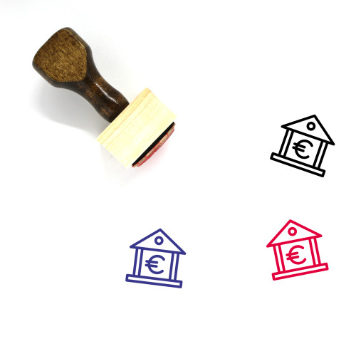 Euro Bank Wooden Rubber Stamp No. 10