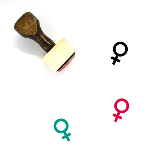 Female Sign Wooden Rubber Stamp No. 11