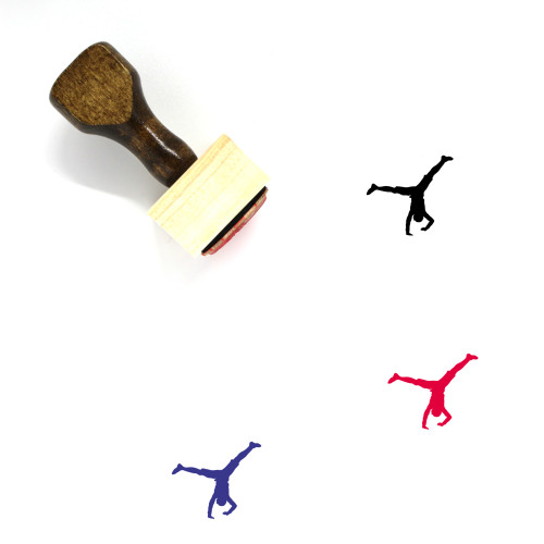 Gymnast Wooden Rubber Stamp No. 8