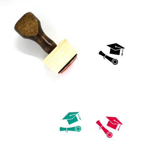 Academic Degree Wooden Rubber Stamp No. 9