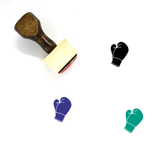 Boxing Mitt Wooden Rubber Stamp No. 1