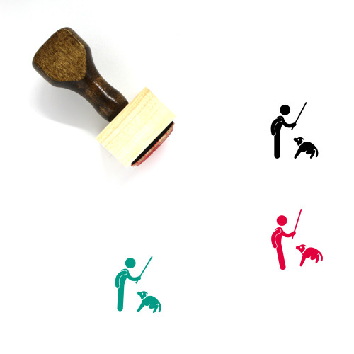 Dog Punishment Wooden Rubber Stamp No. 1