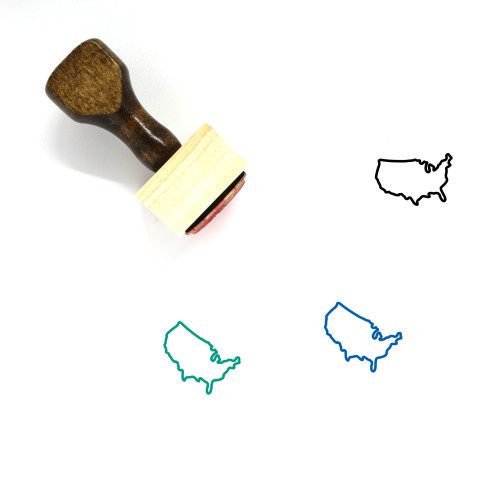 United States Wooden Rubber Stamp No. 84