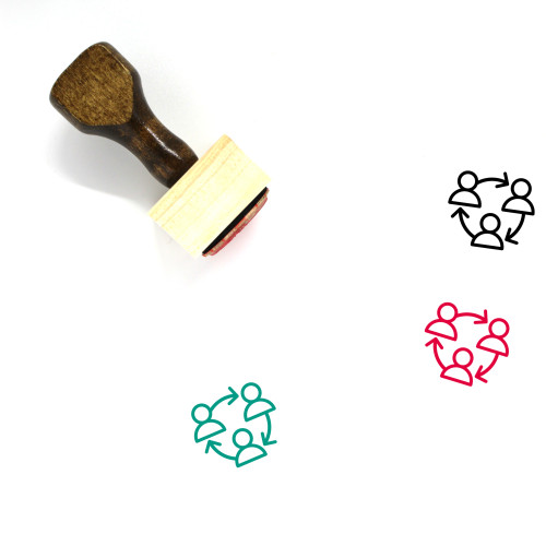 Networking Wooden Rubber Stamp No. 36