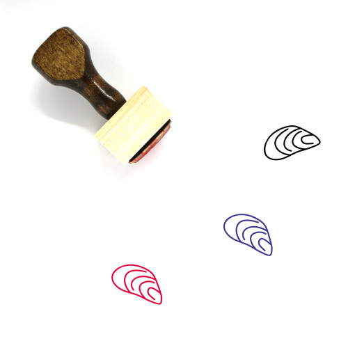 Mussel Wooden Rubber Stamp No. 7