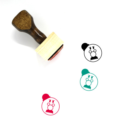 Angry Wooden Rubber Stamp No. 73