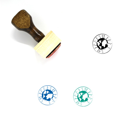 Global Warming Wooden Rubber Stamp No. 7