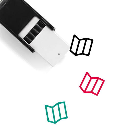 Map Self-Inking Rubber Stamp No. 484