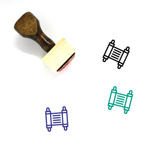 Torah Wooden Rubber Stamp No. 24
