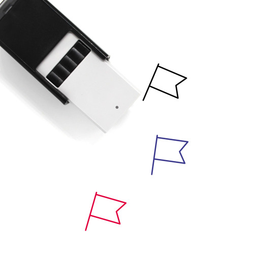 Flag Self-Inking Rubber Stamp No. 790