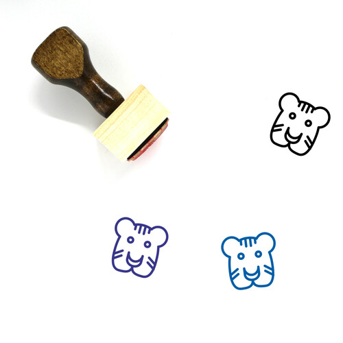 Tiger Wooden Rubber Stamp No. 20