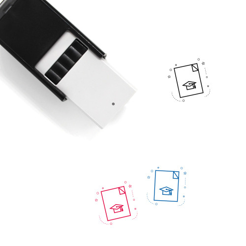 Academic Degree Self-Inking Rubber Stamp No. 10