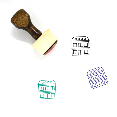 Hotel Wooden Rubber Stamp No. 44