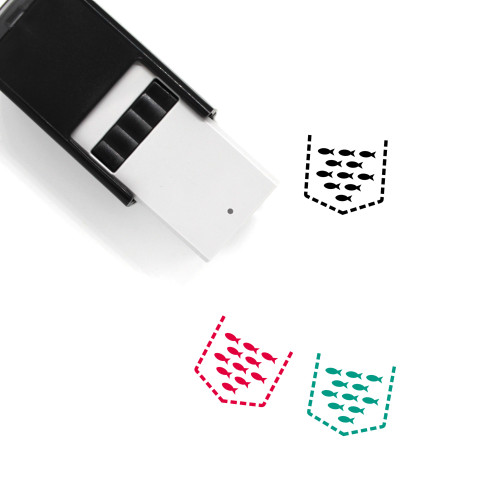 Net Pen Self-Inking Rubber Stamp No. 1