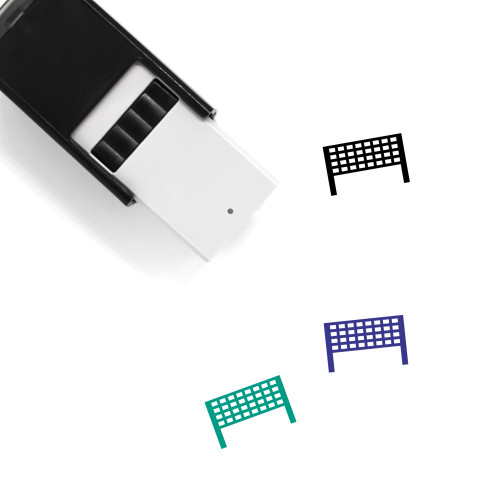 Volleyball Net Self-Inking Rubber Stamp No. 3