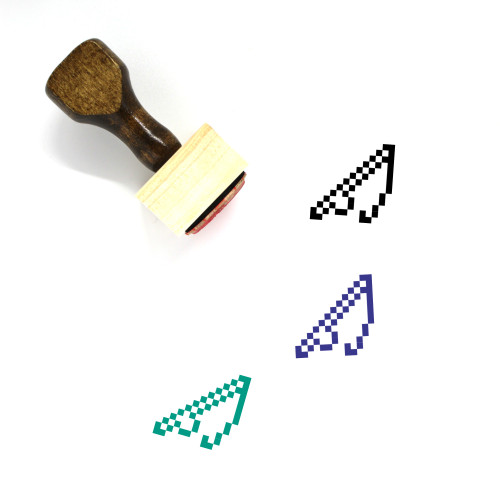 Fishing Pole Wooden Rubber Stamp No. 1